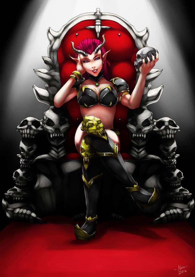 Dark Elf Queen by kevzter