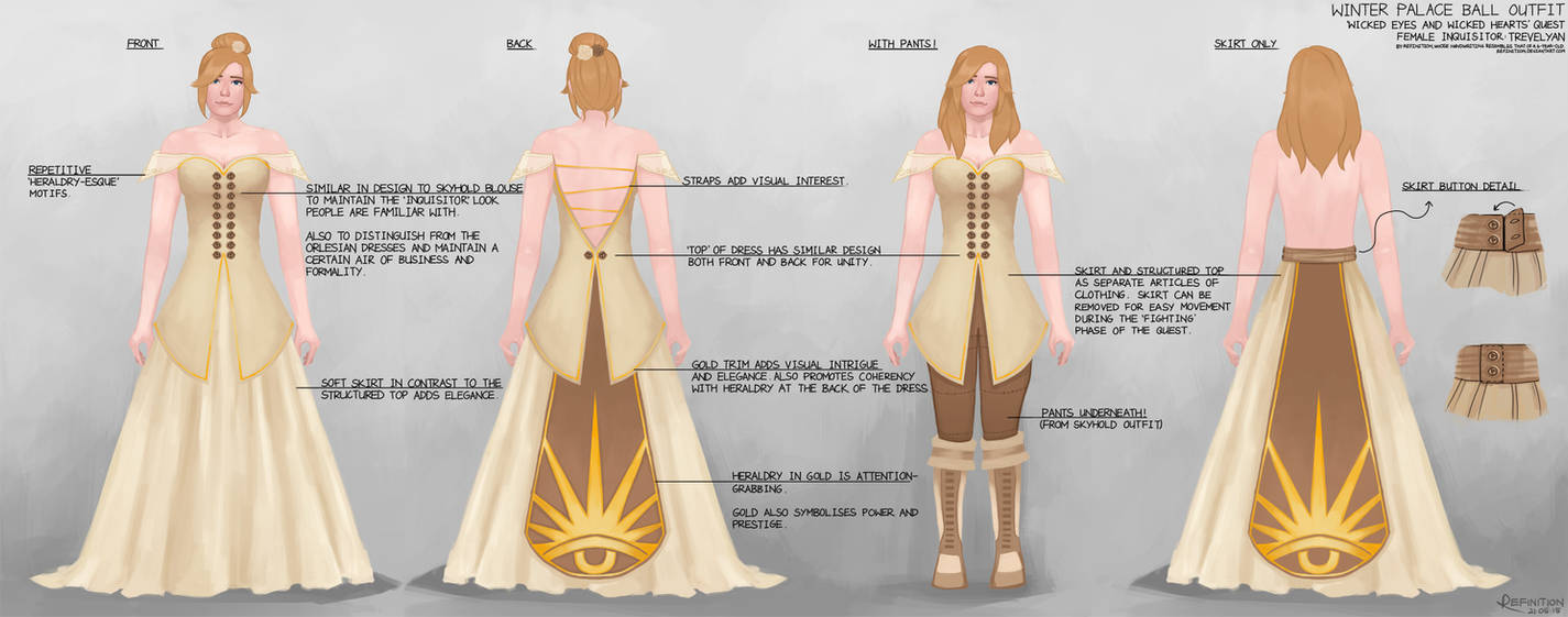 DA:I Winter Palace Dress Design with Annotations by NgChloe