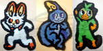 Grookey + Sobble + Flambino Patches by Neo-Sitdow