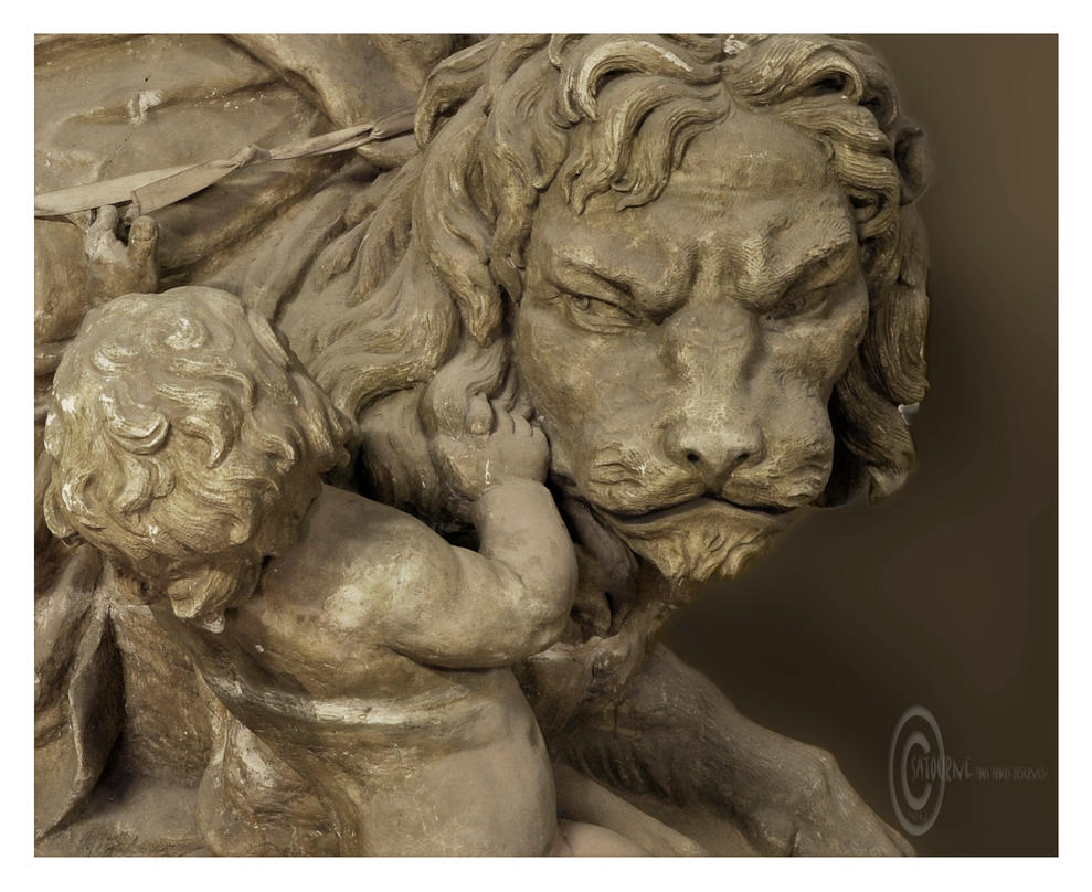 Le Lion et l enfant by Satourne