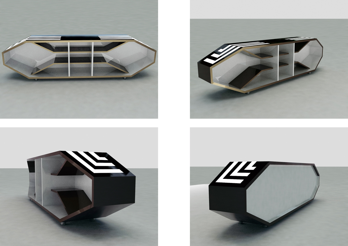 Futuristic Tv Cabinet 2 By Geijutsutekinotenshi On Deviantart