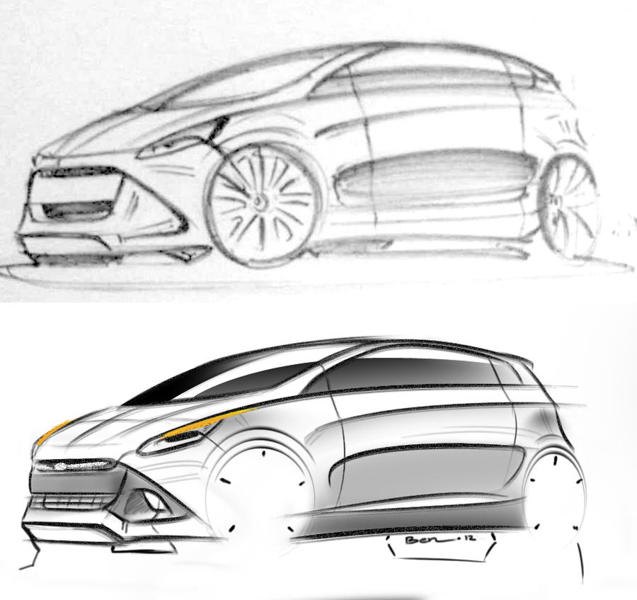 City Car Sketch by geijutsutekinotenshi on DeviantArt