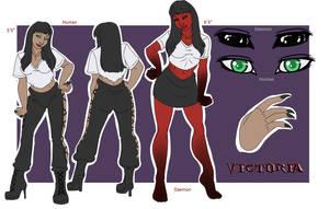 Victoria Reference Sheet by RavynSoul