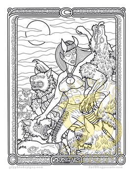Tooth and Claw A Darklings coloring page