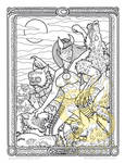 Tooth and Claw A Darklings coloring page by RavynSoul