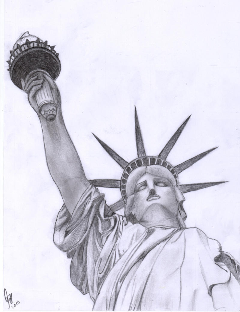 Statue Of Liberty by Mille94 on DeviantArt Statue Of Liberty Drawing Face