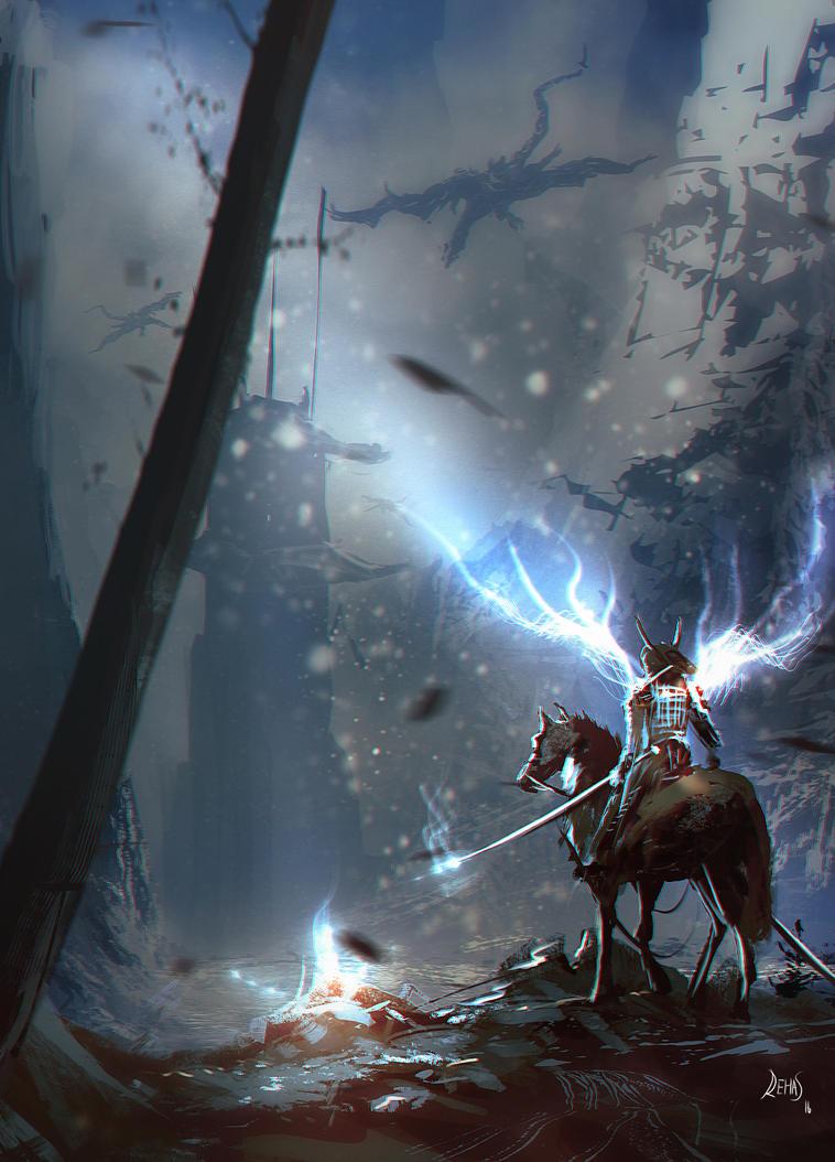 Mounted Samurai by gromwulf