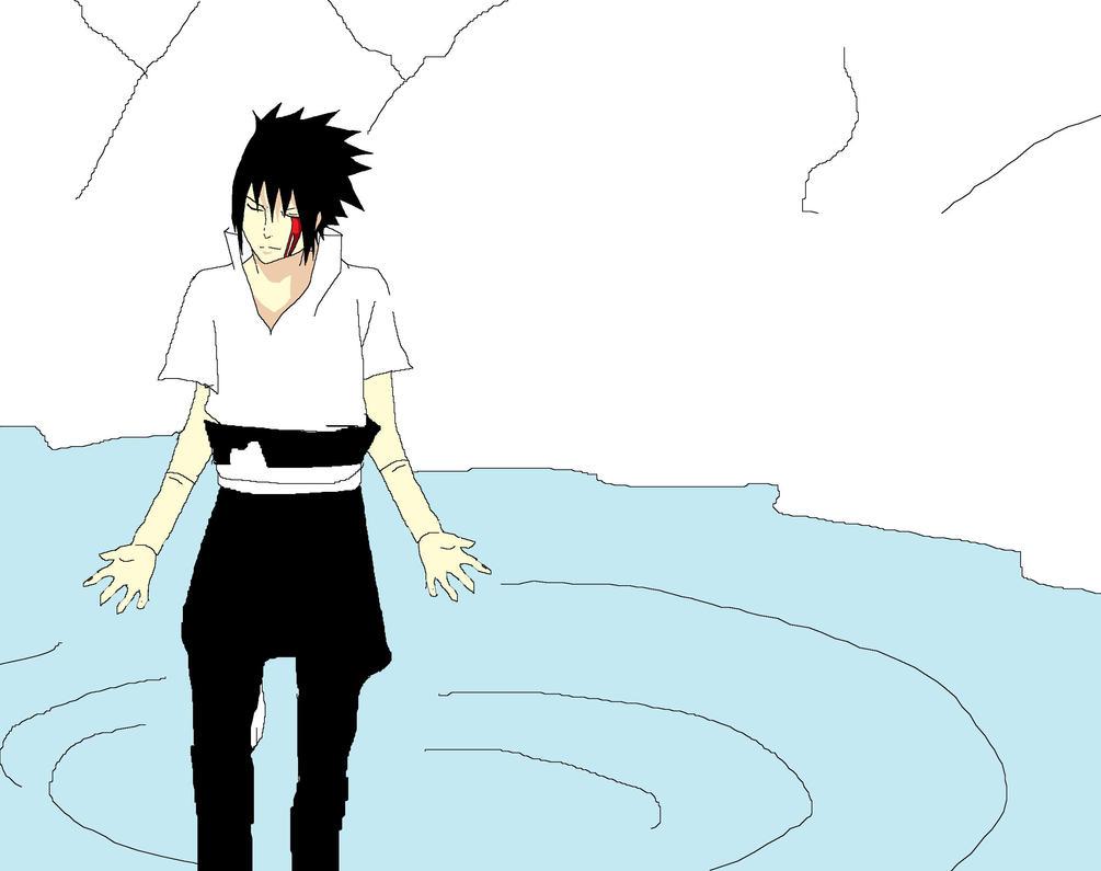 sasuke on paint by AllenRitsu