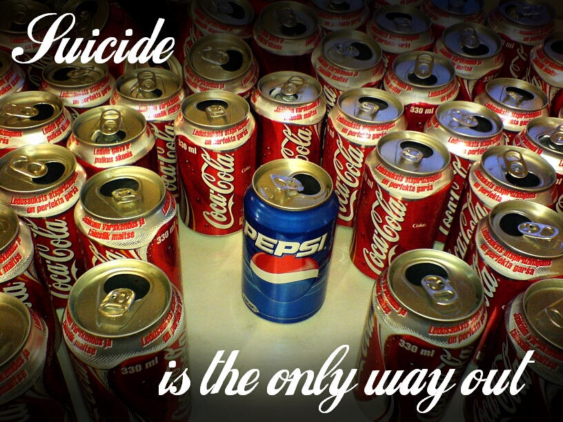 suicide is the only way out by utilizator