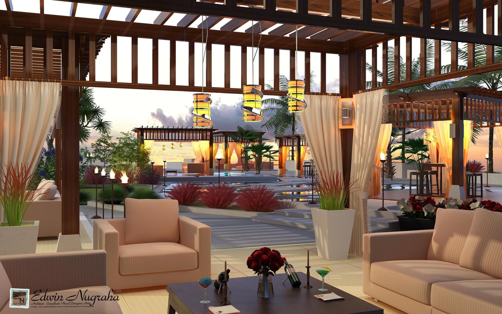 Mahakam hotel roof garden by vad endz on deviantart