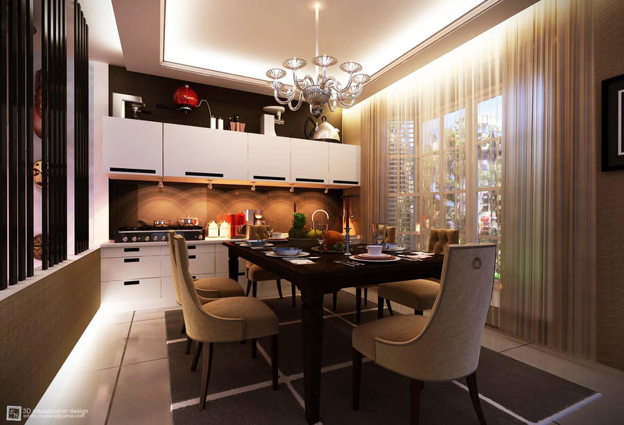 Townhouse dining room by vad endz on deviantart for Dining room ideas for townhouse