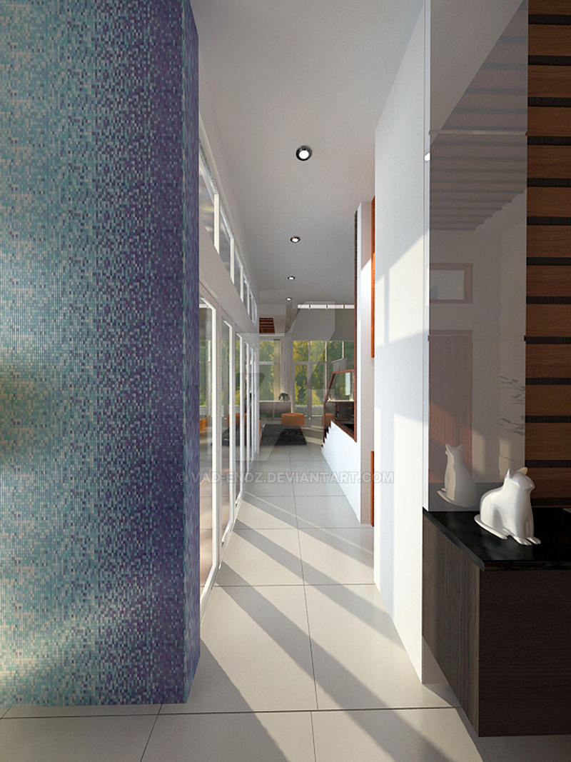 Green Cove BSD interior_Corridor to living room by vaD ...