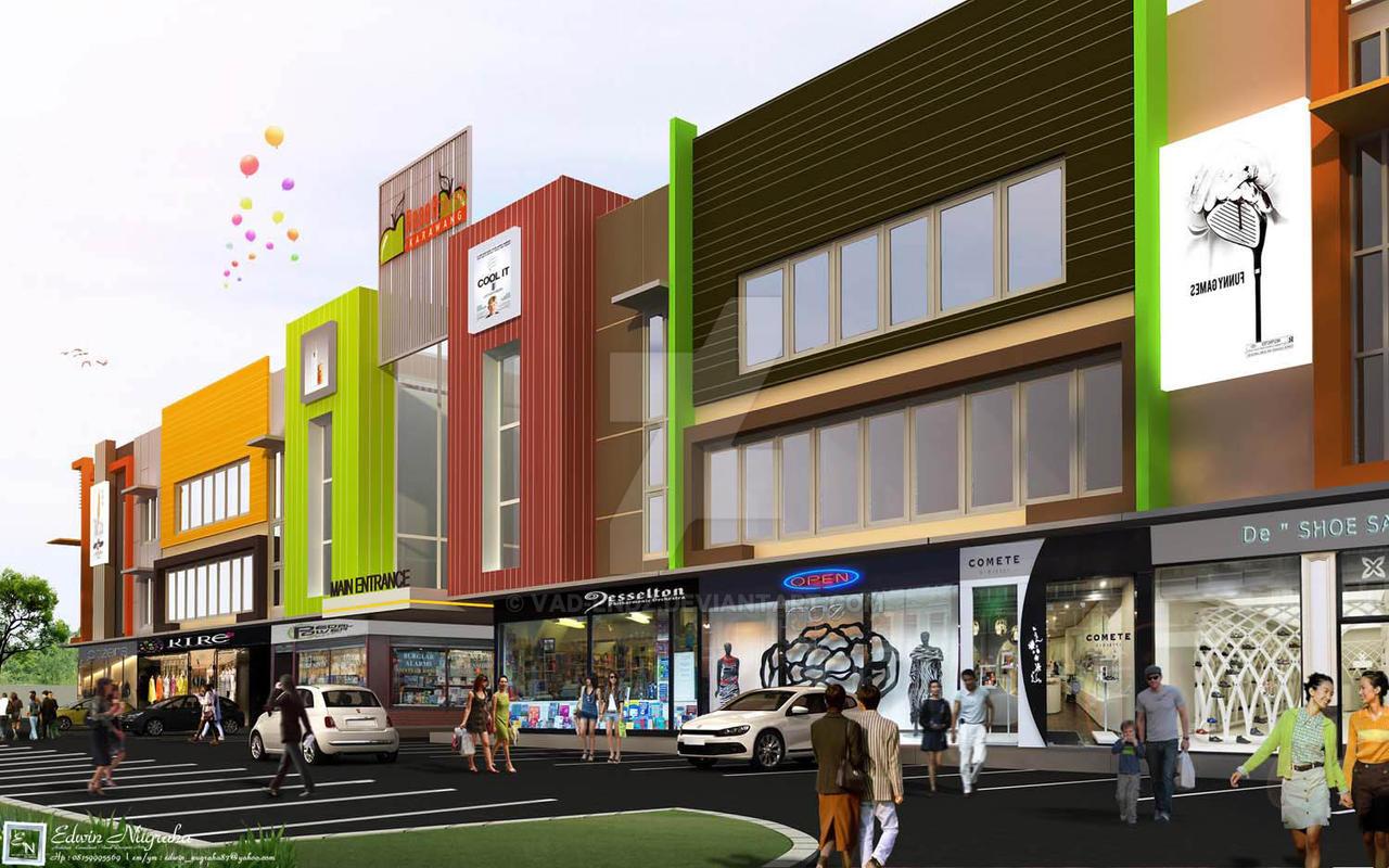 Kerawang Shop House 02 by vaD-Endz on DeviantArt