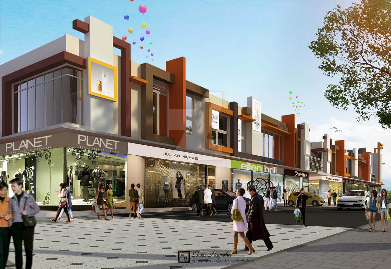 Kerawang Shop House 03 by vaD-Endz on DeviantArt