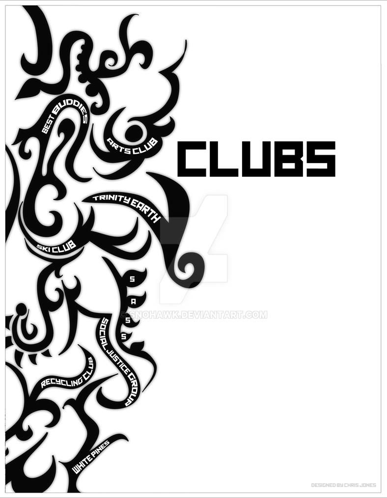 Deviantart coloring clubs - Ht Yearbook Clubs Divider By Snohawk