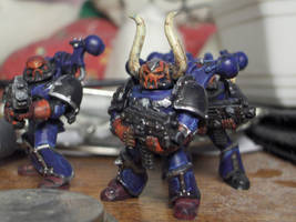 Scourged Chaos Space Marines by Melurinn