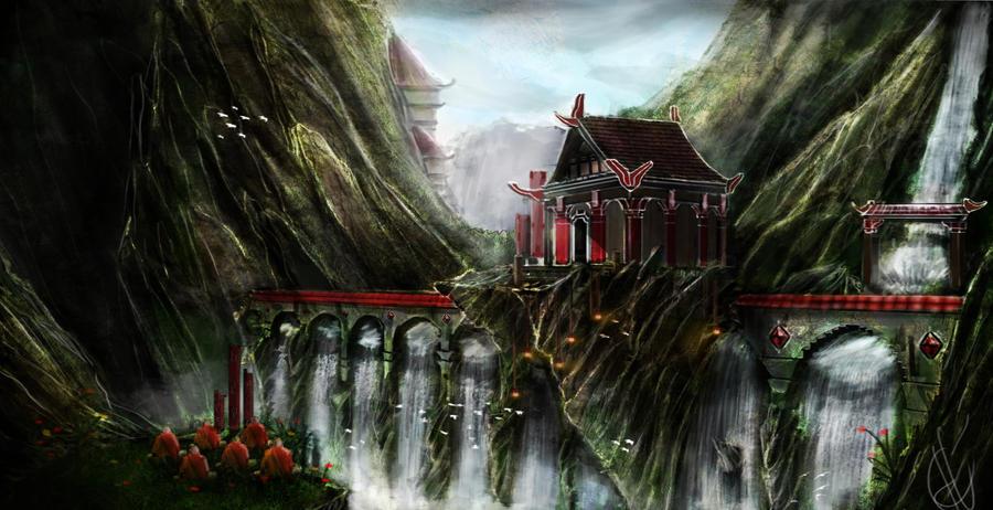 asian landscape by tomkolbeek on deviantart