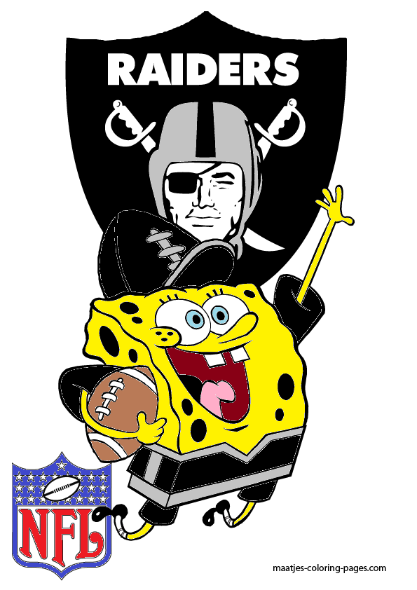 Spongebob Oakland Raiders By Bubbaking On Deviantart