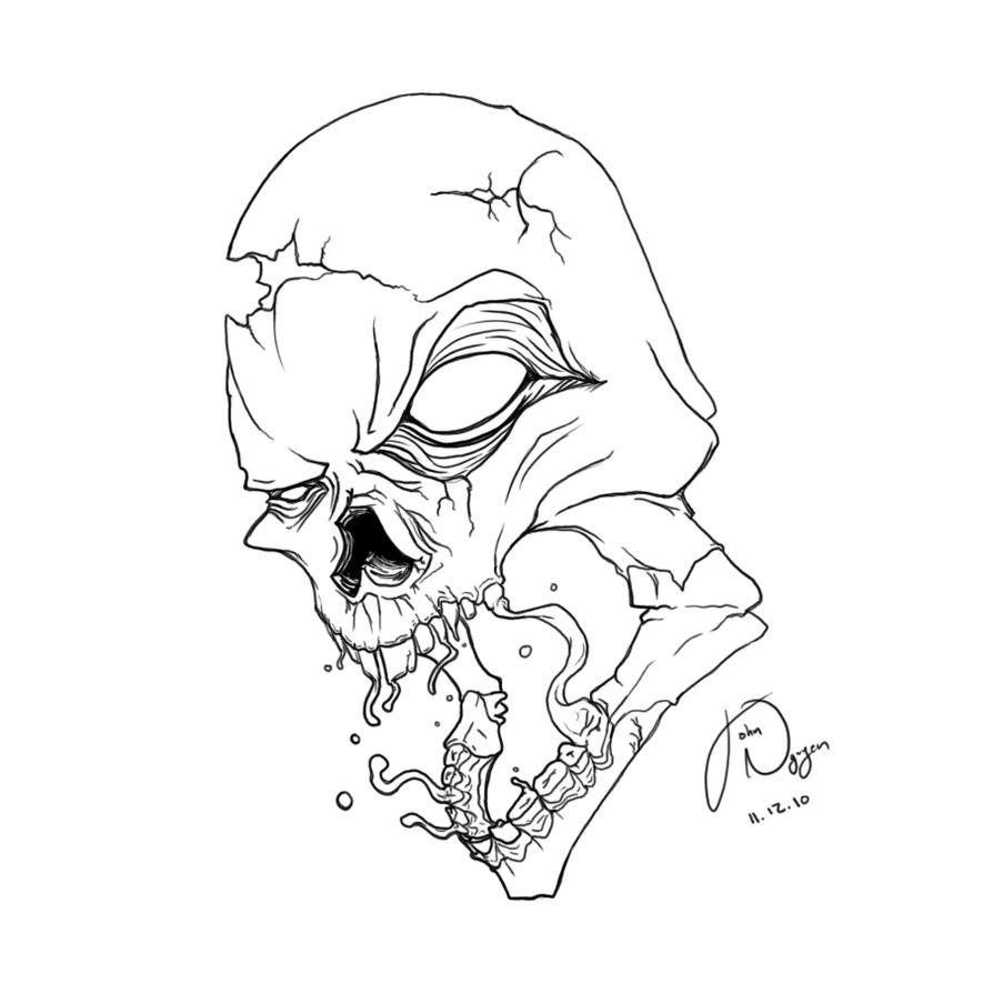 Line Drawing Skull : Line art skulls video search engine at