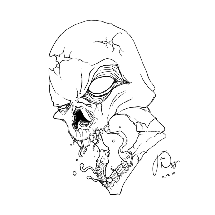 Line Art Skull : Skull line art by awesomesauce on deviantart