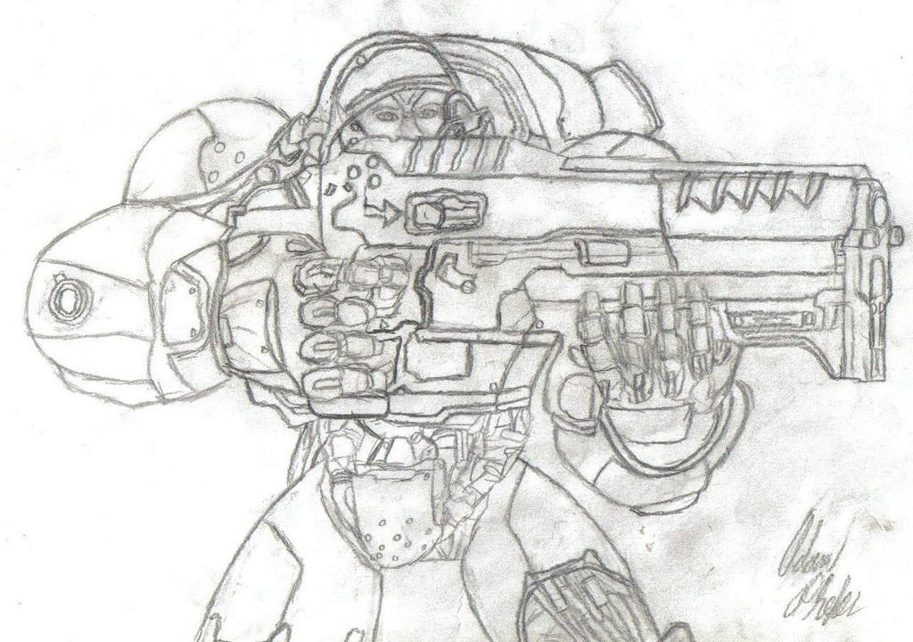 Starcraft marine by gmmarine on deviantart for Starcraft coloring pages