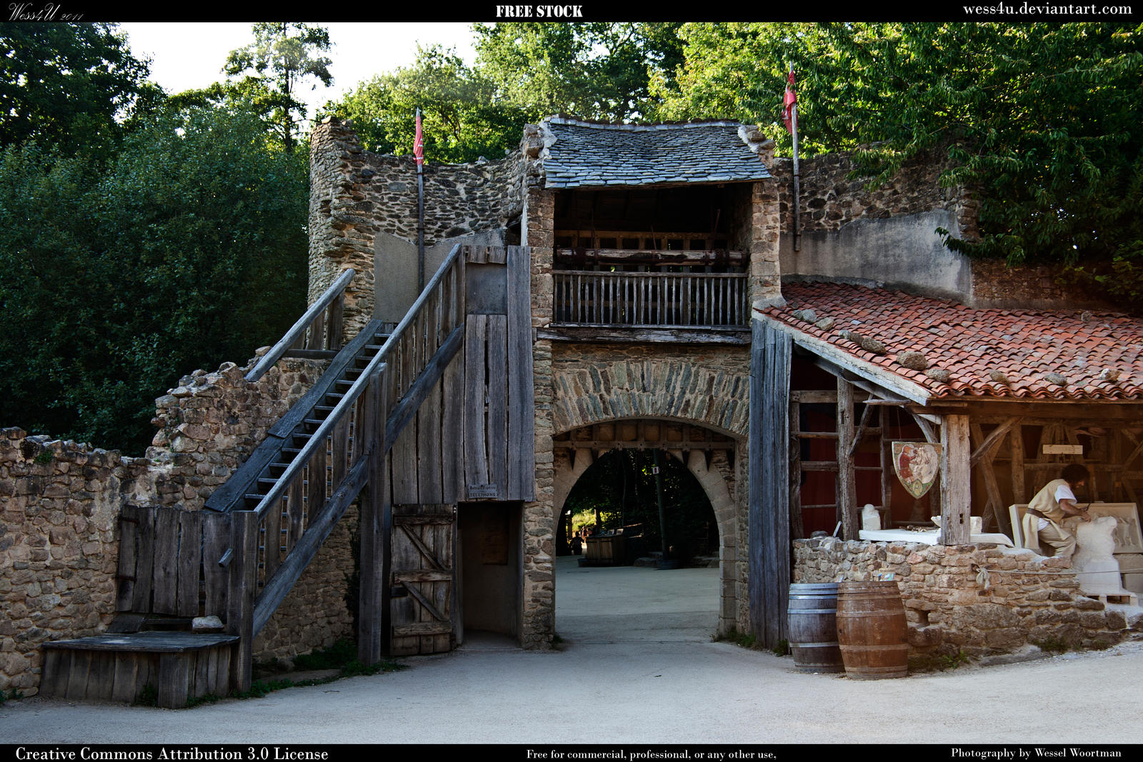 Medieval village 13 by Wess4u