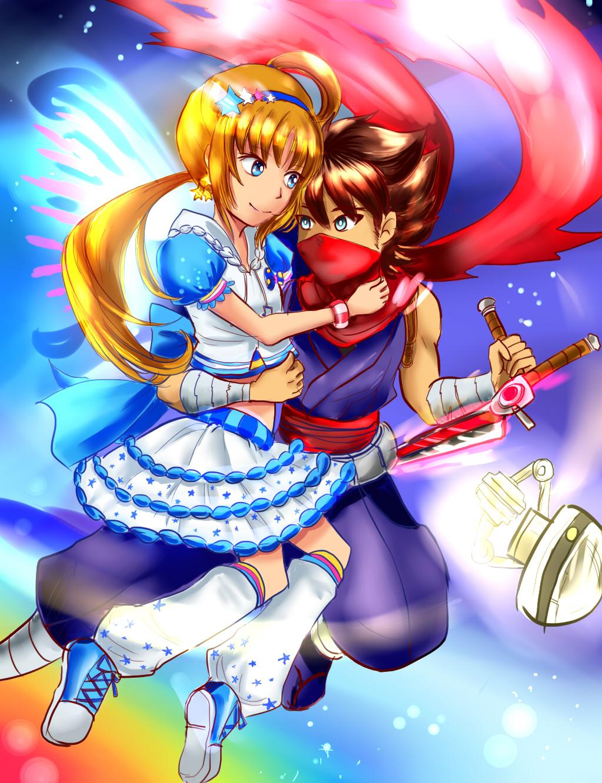 hiryu and ann by zzzsan