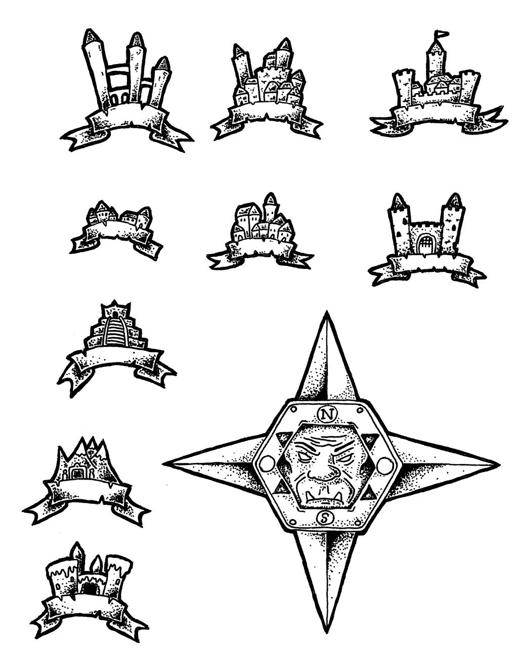 Black And White Overland Map Symbols By Darthasparagus On Deviantart