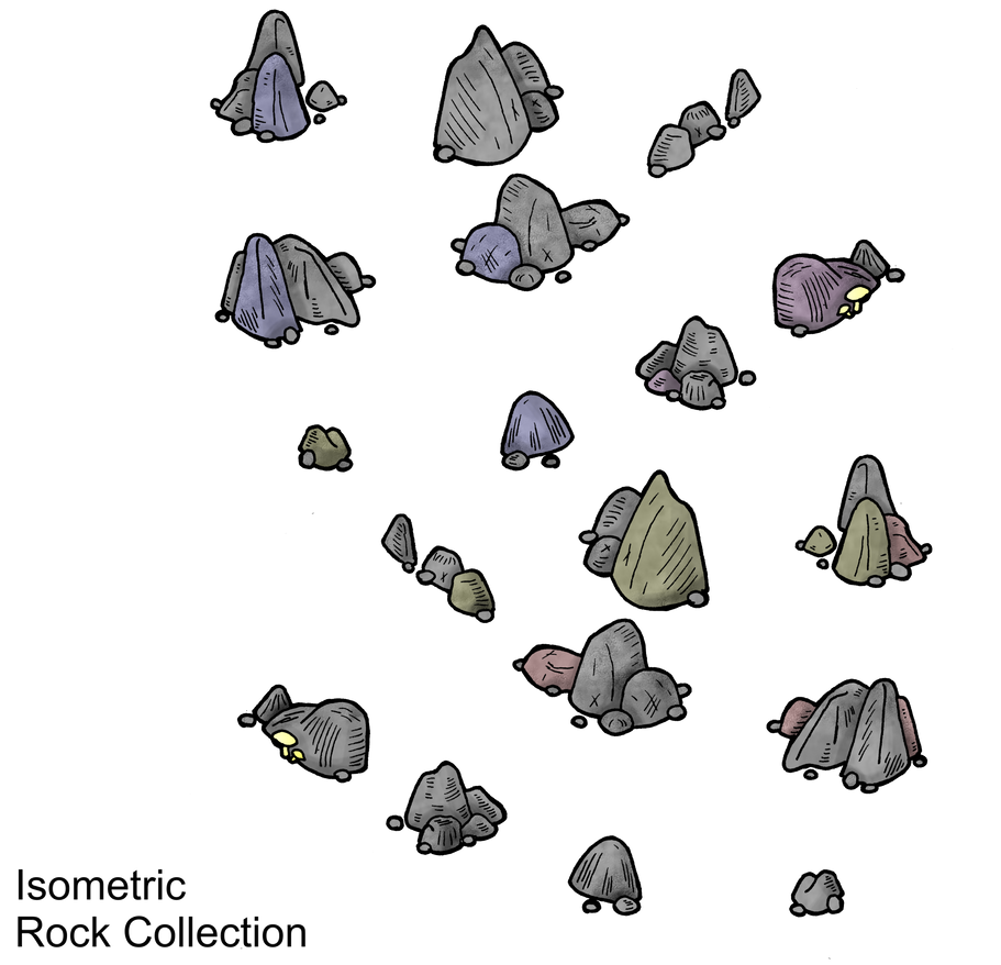 Isometric Rocks Collection by DarthAsparagus