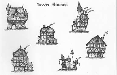 Town Houses by DarthAsparagus