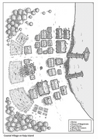 Kaiju Coastal Village. by DarthAsparagus