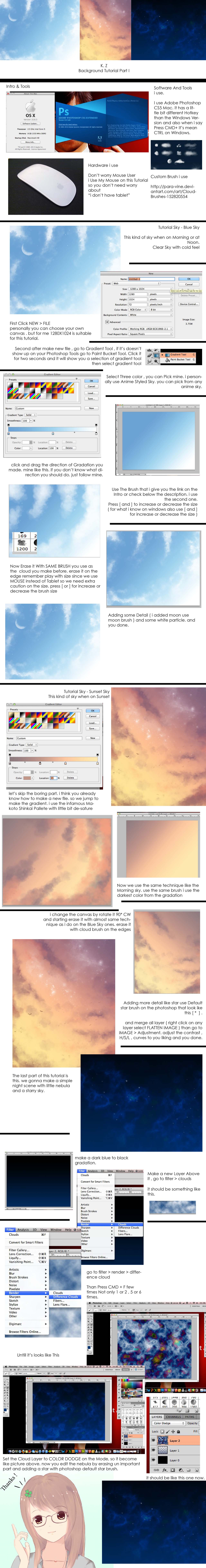 Sky And Clouds Tutorial by studioedelyn