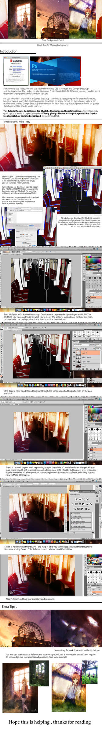 Tips and Tutorial on Making Background by MuhammadRiza