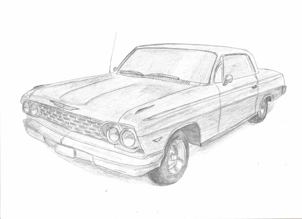 how to draw a cartoon 1967 ss chevy camaro