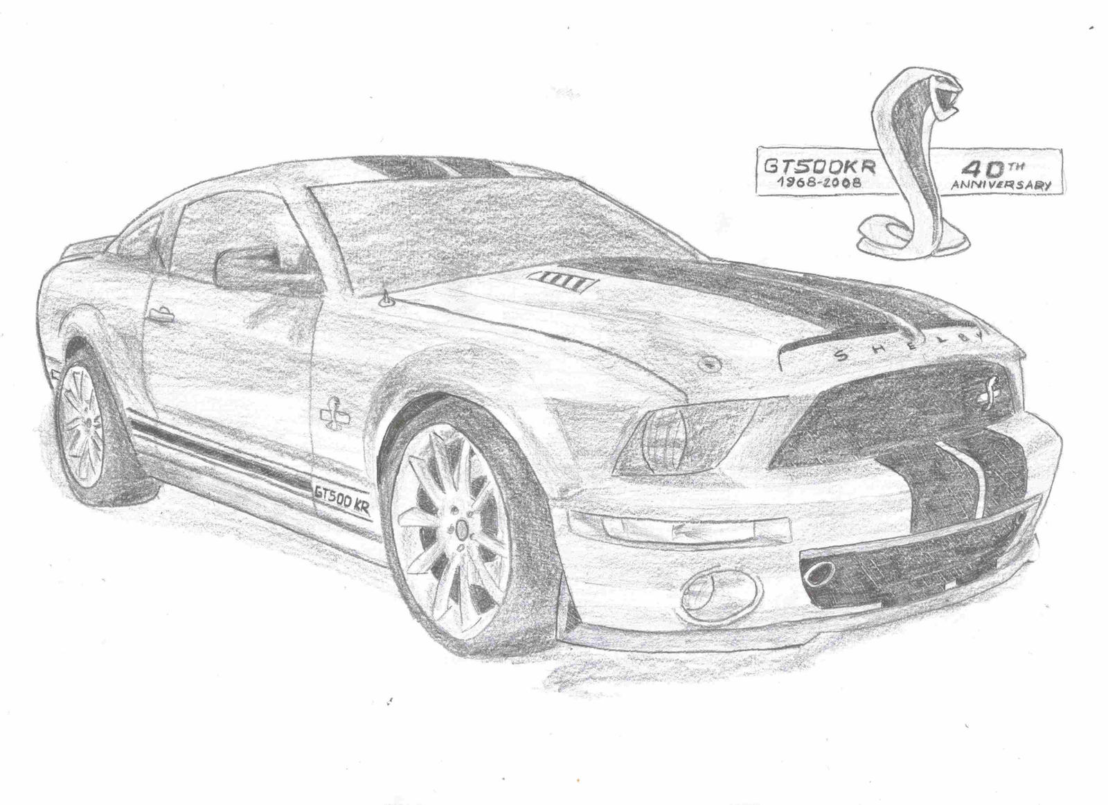 Ford Shelby Mustang Pencil Drawing Pictures