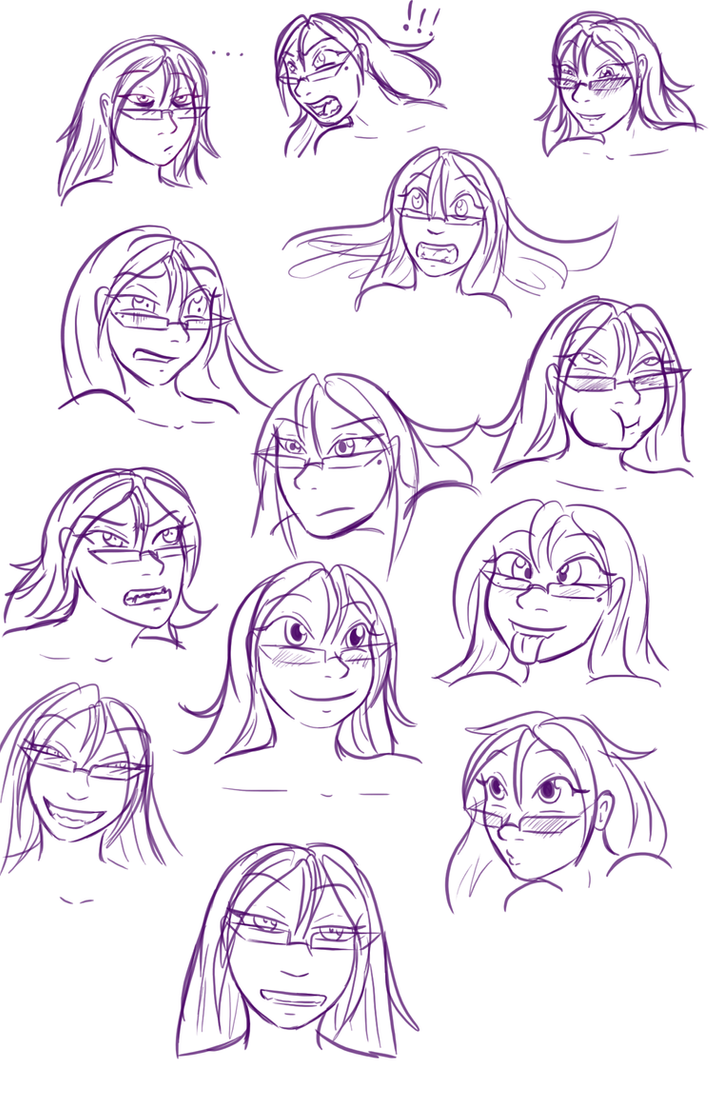 Doodles silly faces by alorok on deviantart for Doodle art faces