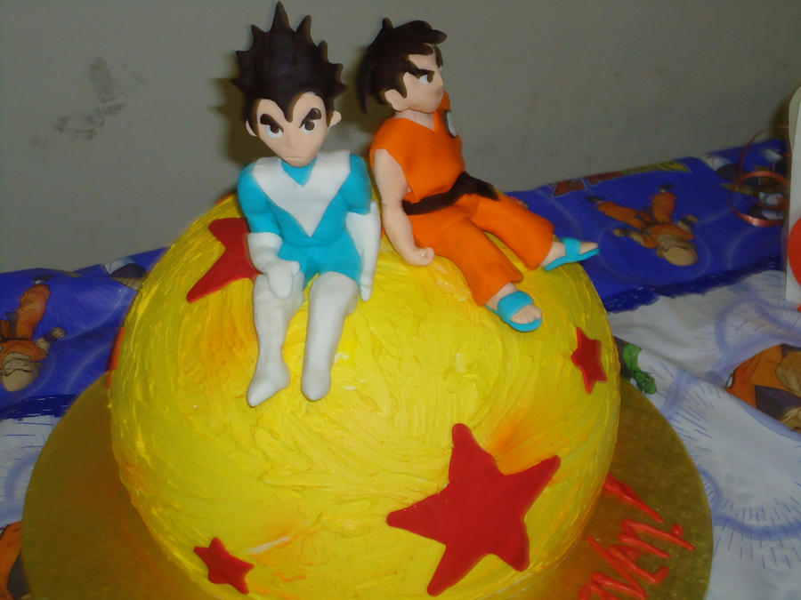 Vegeta Acrylic Dragon Ball Z And 6 Birthday Cake