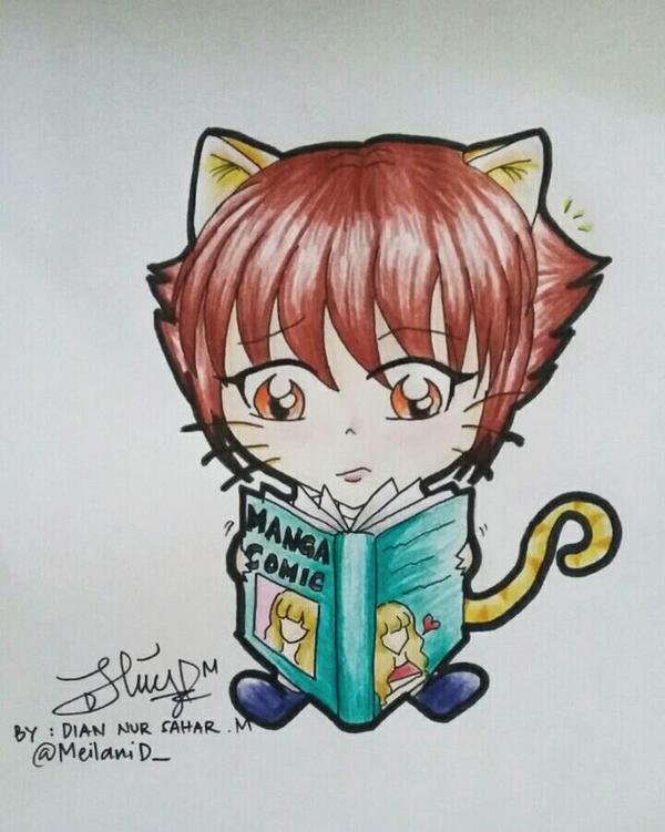 Cute Otaku Chibi by MeilaniD