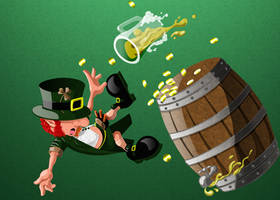 Lazy Leprechuan - Lazy and Keg o Gold by CauseThought