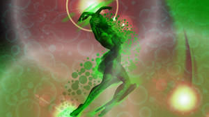 The Dance of Sonancy - Green Abstraction by CauseThought