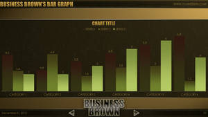 Business Brown - PowerPoint Template (Bar Graph) by CauseThought