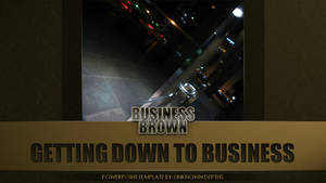 Business Brown - PowerPoint (Title) by CauseThought