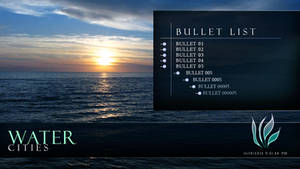 Water Cities - PowerPoint Template (Bullet List) by CauseThought