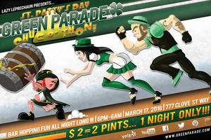 GREEN PARADE - St Patrick's Day Flyer (Front) by CauseThought