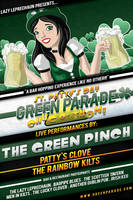 GREEN PARADE - St Patrick's Day Flyer (Rear) by CauseThought