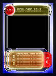 Card Design - Trading Card Game Template Style 02