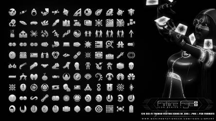Future Age (Icon Series I) Sci-fi Vector Icon Set by CauseThought