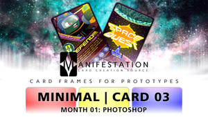 Month 01: Card 03 - Photoshop (Minimal   SciFi)