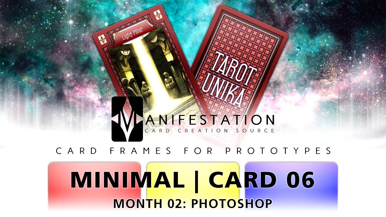 Month 02: Card 06 - Photoshop (Minimal | Tarot)