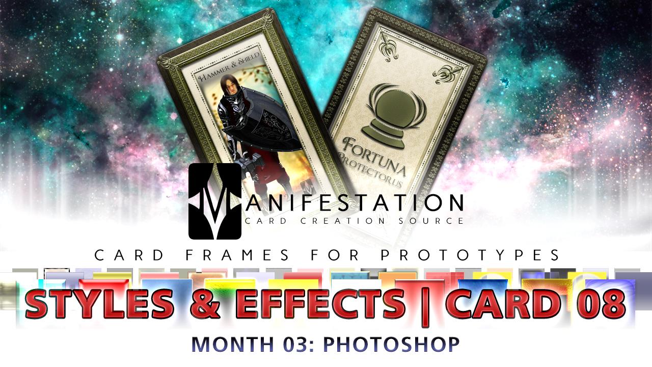 Month 03: Card 08 - Photoshop (Styles+FX   Tarot)